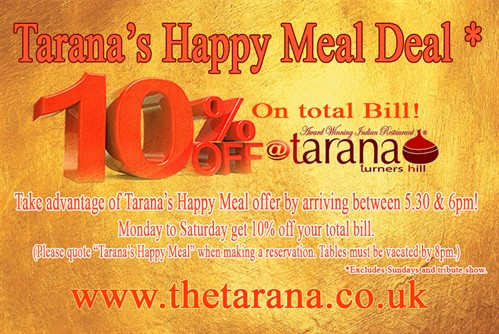Tarana'S Happy Meal Deal Wlrg
